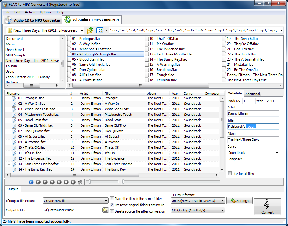 How to set audio tags for MP3 file
